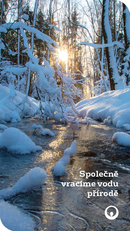 Zimní banner Vraťme vodu přírodě
