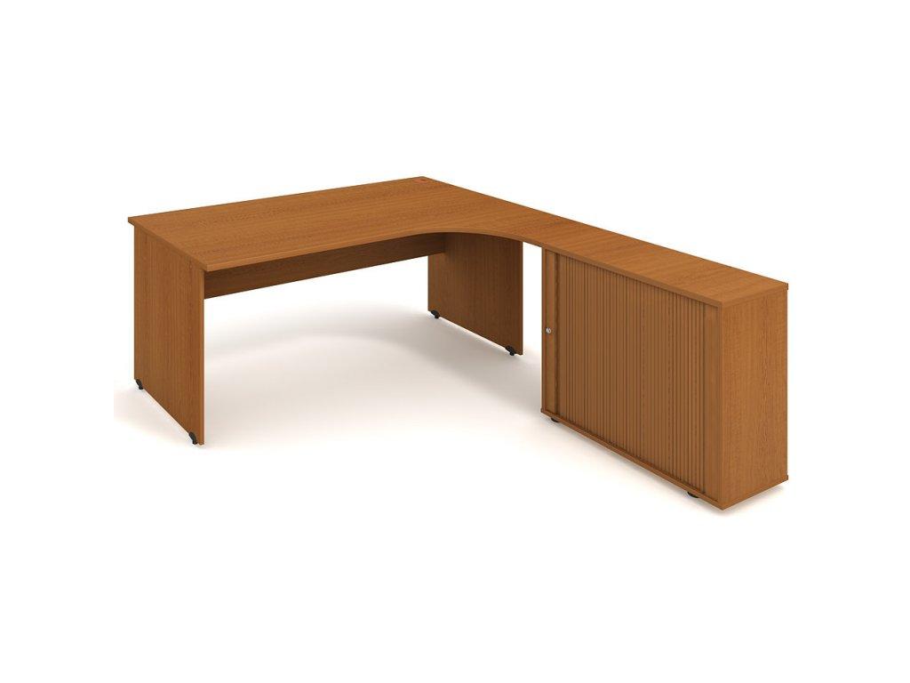 Sestava stolu a rol. skříně levá 180 cm - Hobis Gate GE 1800 HR L