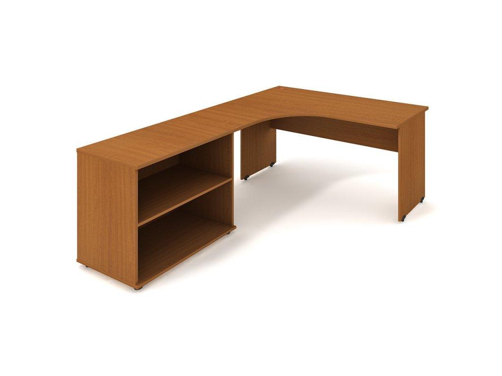 Sestava stolu a skříně pravá 160 cm - Hobis Gate GE 60 H P