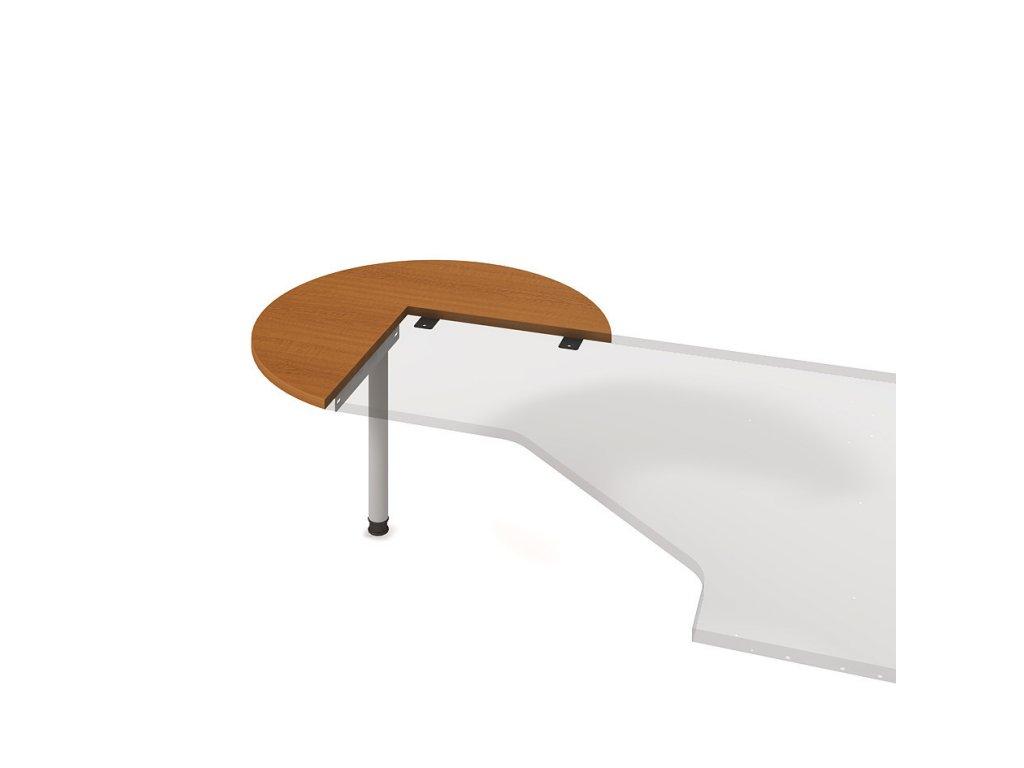 Stůl jednací levý pr. 100 cm - Hobis Gate GP 21 L