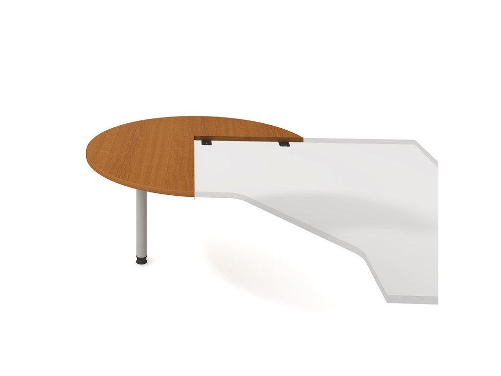 Stůl jednací levý napříč pr. 120 cm - Hobis Gate GP 22 L N