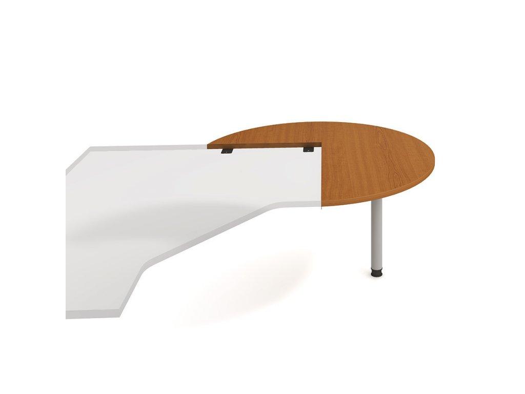 Stůl jednací pravý napříč pr. 120 cm - Hobis Gate GP 22 P N