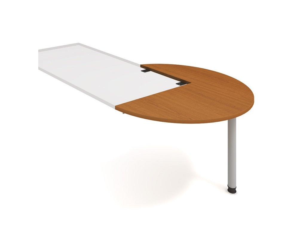 Stůl jednací pravý podél pr. 120 cm - Hobis Gate GP 22 P P