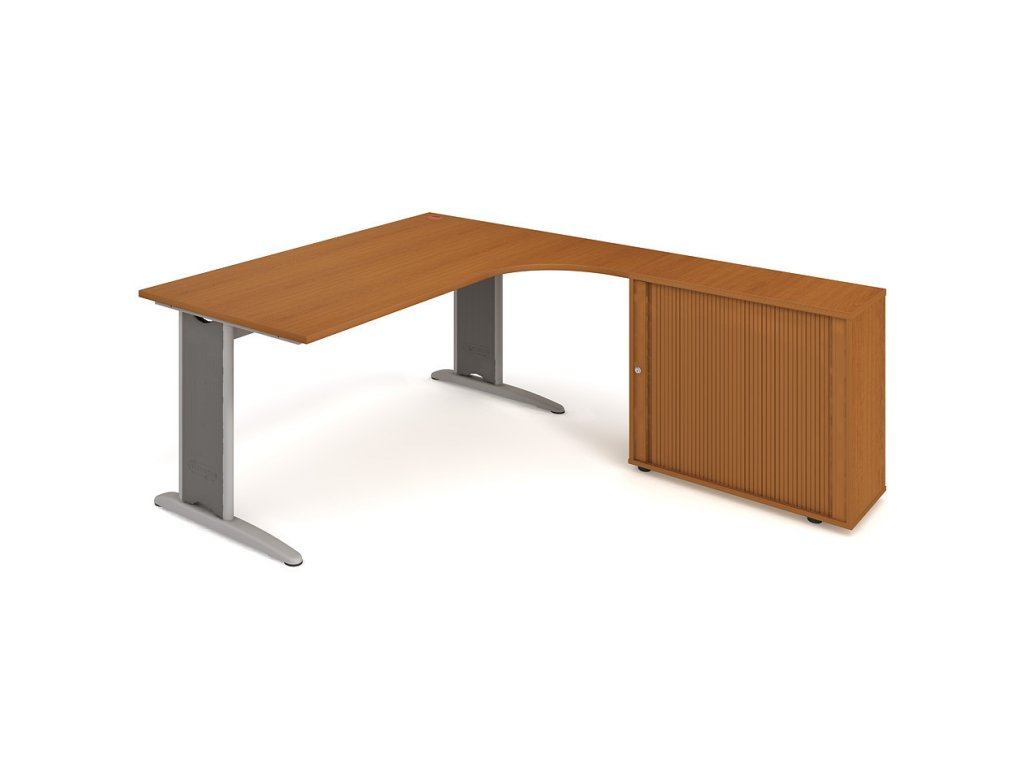 Sestava stolu a skříně levá 180 cm - Hobis Flex FE 1800 HR L