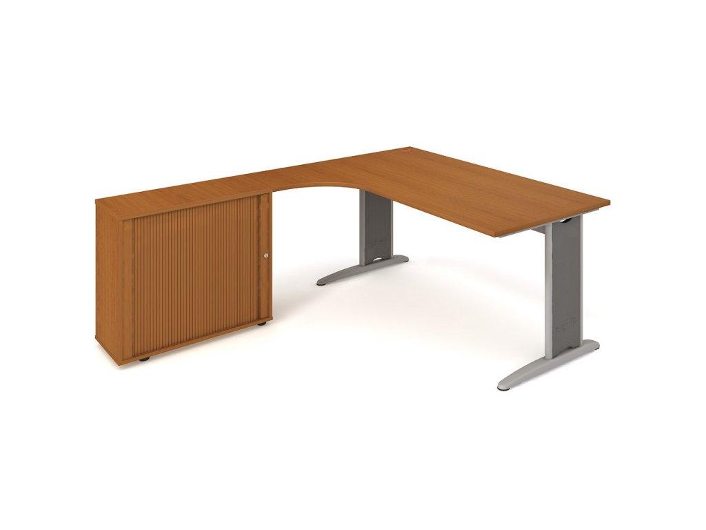 Sestava stolu a skříně pravá 180 cm - Hobis Flex FE 1800 HR P