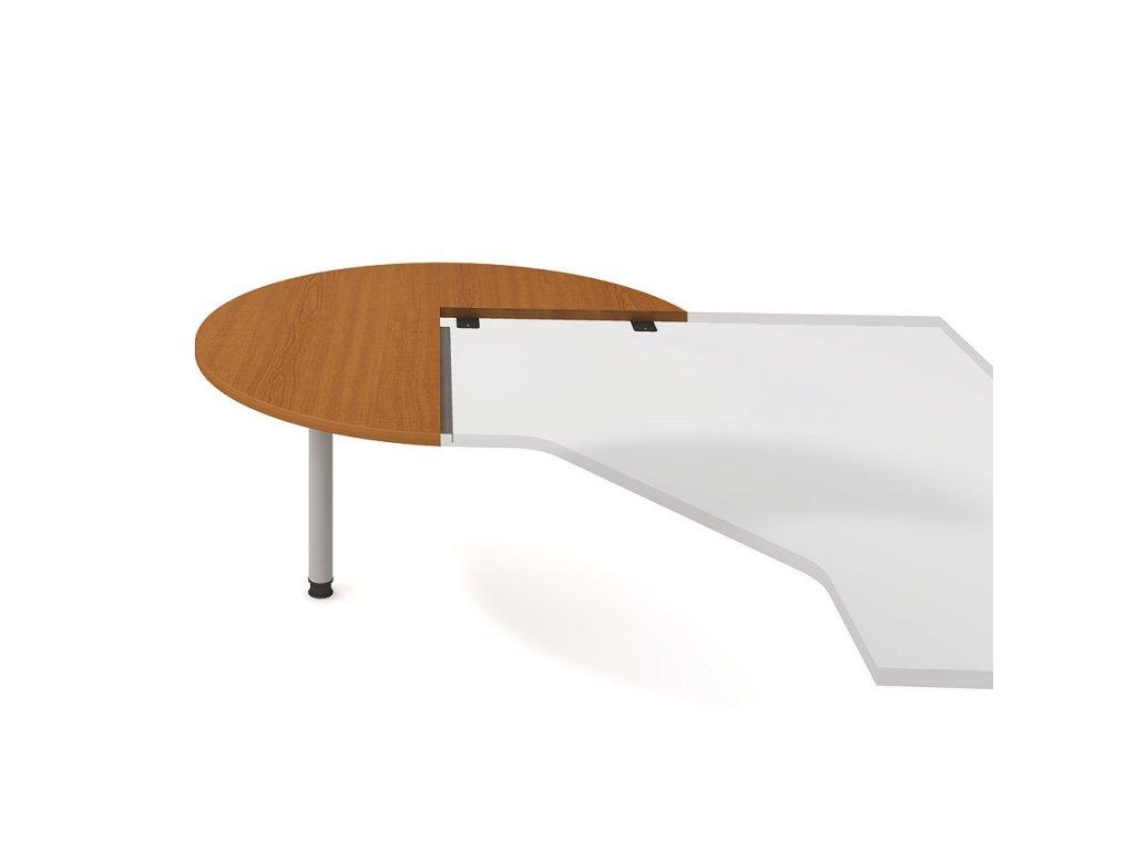 Stůl přídavný levý napříč pr. 120 cm - Hobis Flex FP 22 L N