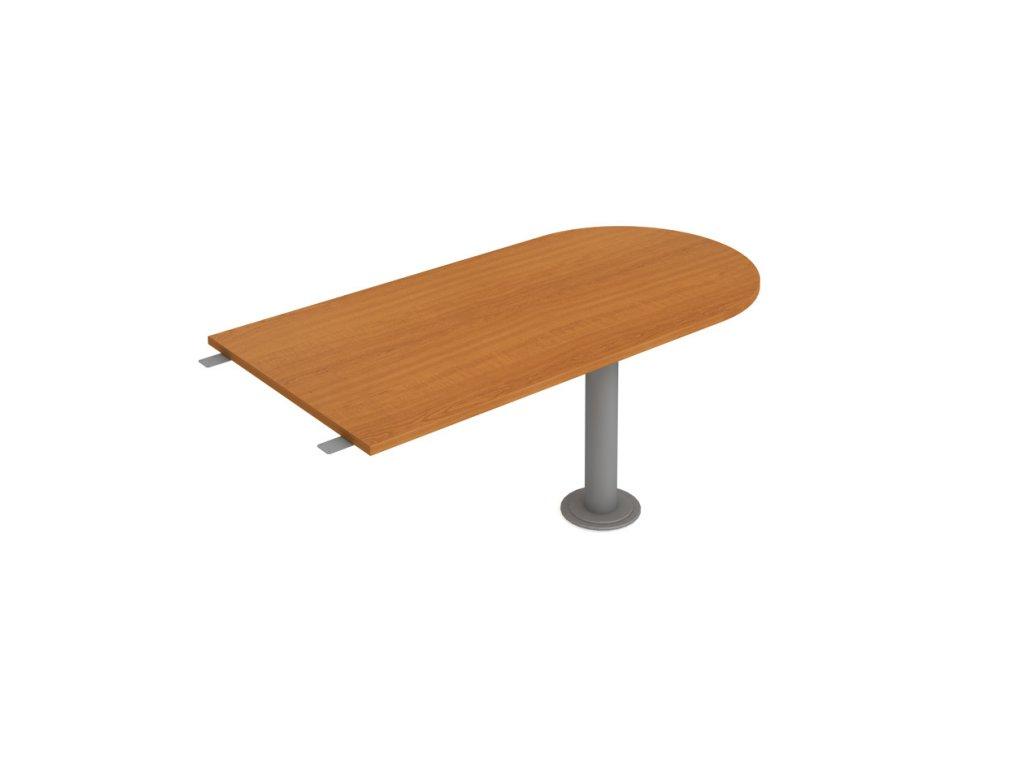 Stůl jednací délky 160 cm ukončený obloukem - Hobis Cross CP 1600 3