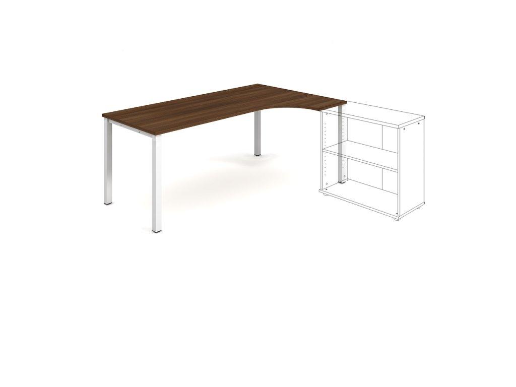 Stůl ergo oblouk levý 180×120/80 cm - Hobis Uni UE 1800 L