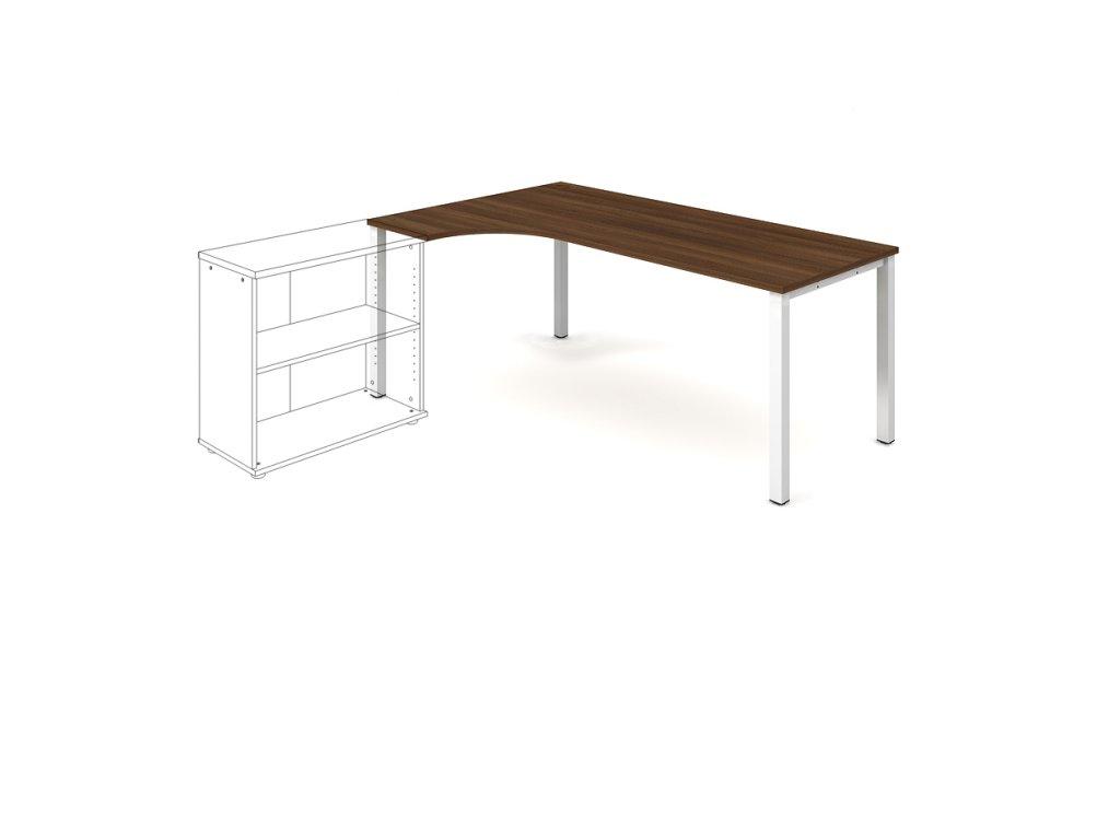 Stůl ergo oblouk pravý 180×120/80 cm - Hobis Uni UE 1800 P