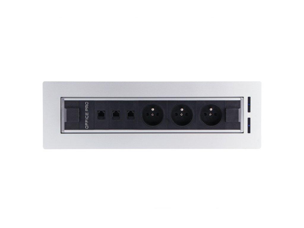 Elektricky otočný panel s 3x el.zás.,3x data BTCZ V 002