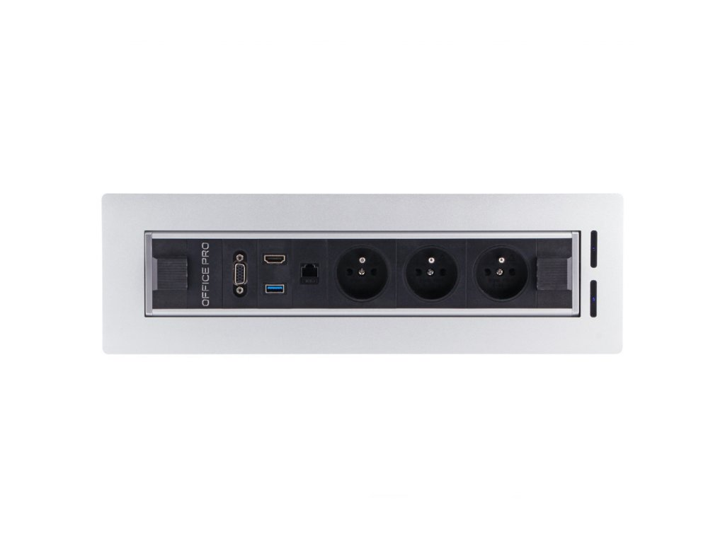 Elektricky otočný panel s 3x el.zás,1x data, HDMI, USB 3.0, VGA BTCZ V 014