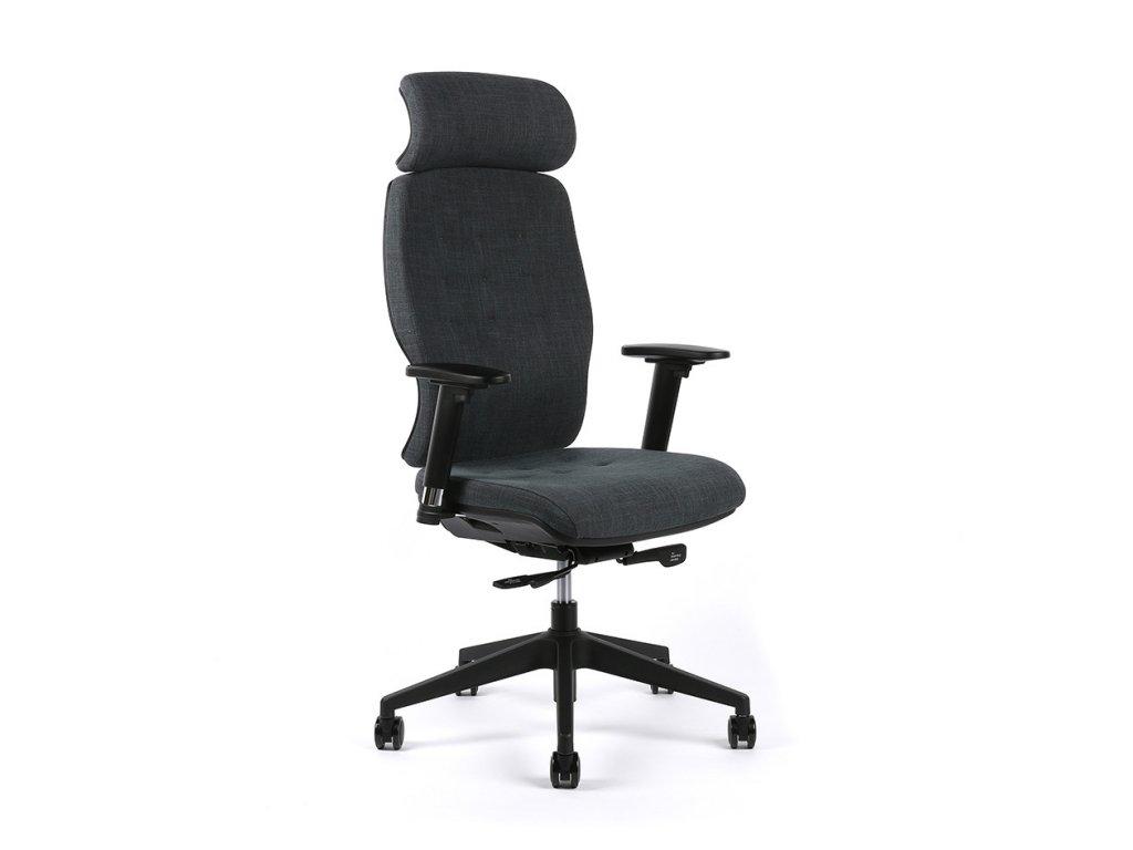 Kancelářská židle SELENE s fixní hlavovou opěrkou