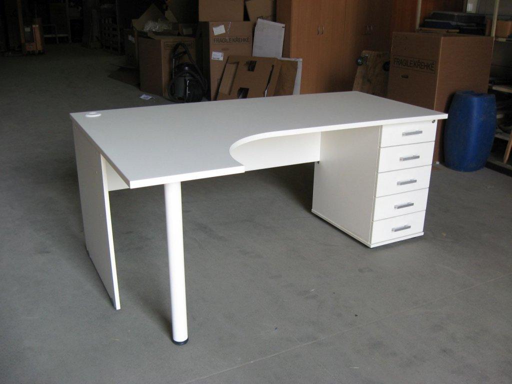 Stůl ergo s kontejnerem pravý 180 cm