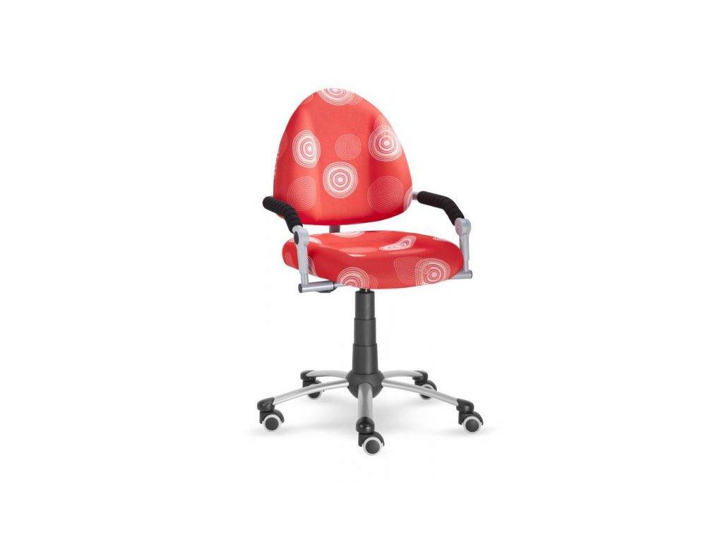 židle Freaky červená puntíky