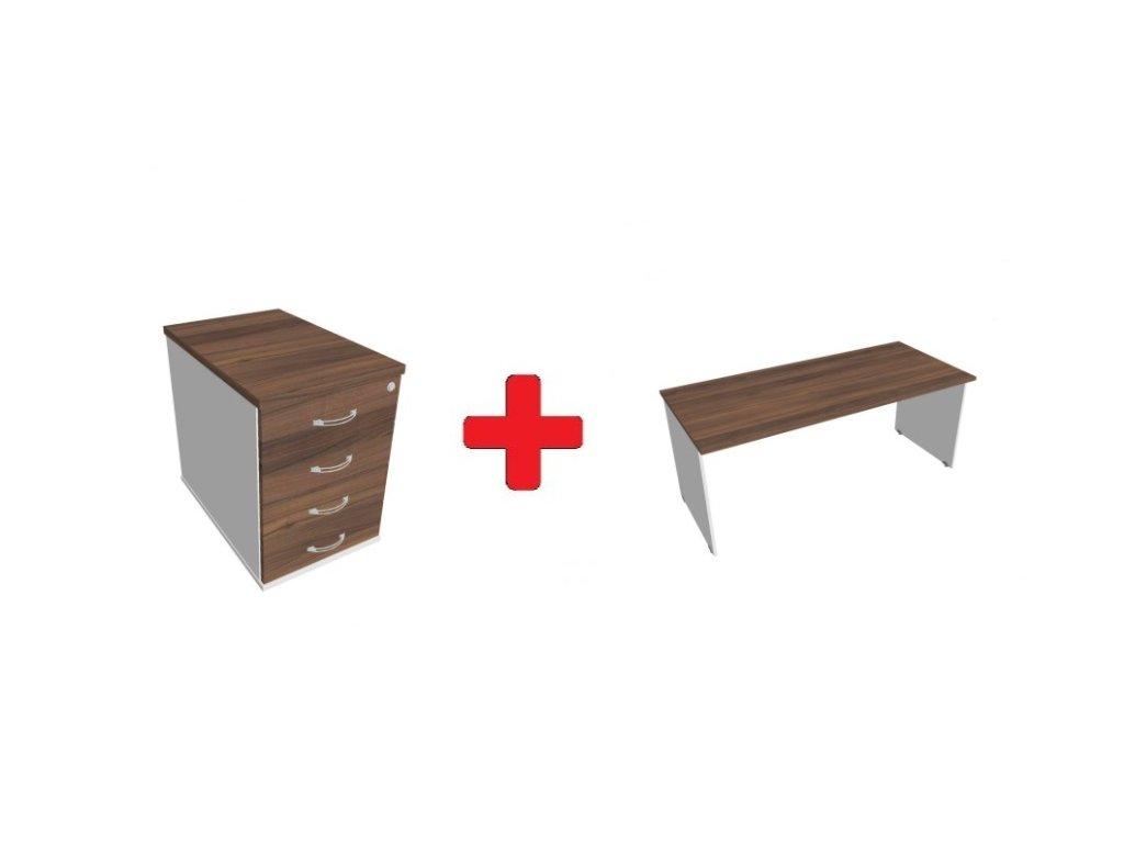 Kontejner + pracovní stůl od značky HOBIS