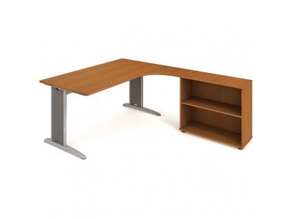 Sestava stolu a skříně levá 180 cm - Hobis Flex FE 1800 H L