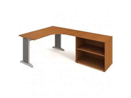 Sestava stolu a skříně levá 160 cm - Hobis Flex FE 60 H L