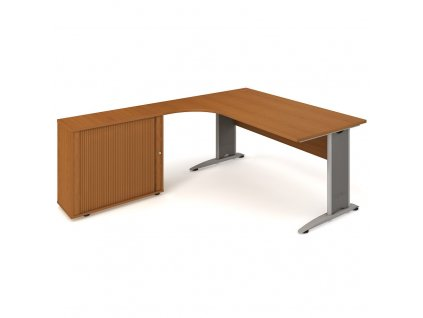 Sestava stolu a rol. skříně pravá 180 cm - Hobis Cross CE 1800 HR P