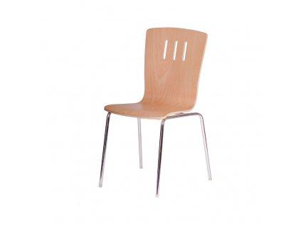 DORA.dřevěná židle,TŘEŠEŇ/HLINÍK