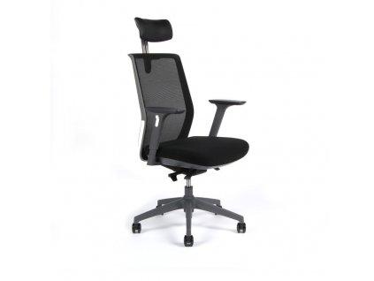Kancelářská židle PORTIA s podhlavníkem a područkami