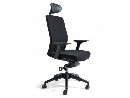 barva sedáku a opěráku J1-201 černá
