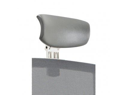 Podhlavník k židli MERENS WHITE, šedá koženka