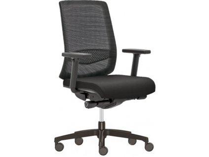 Kancelářská židle Vicotry RIM černá zepředu