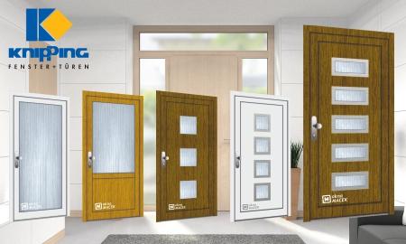 Nové plastové vchodové dveře