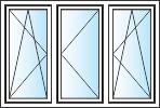 Tříkřídlá plastová okna
