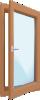Dřevěné balkonové dveře - nové, skladové, použité a bazarové