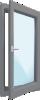 Hliníkové balkonové dveře - nové, skladové, použité a bazarové