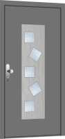 Hliníkové vchodové dveře - nové, skladové, použité a bazarové
