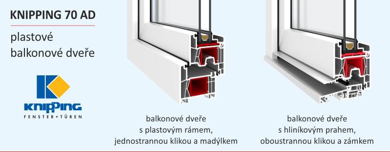 balkonové dveře provedení