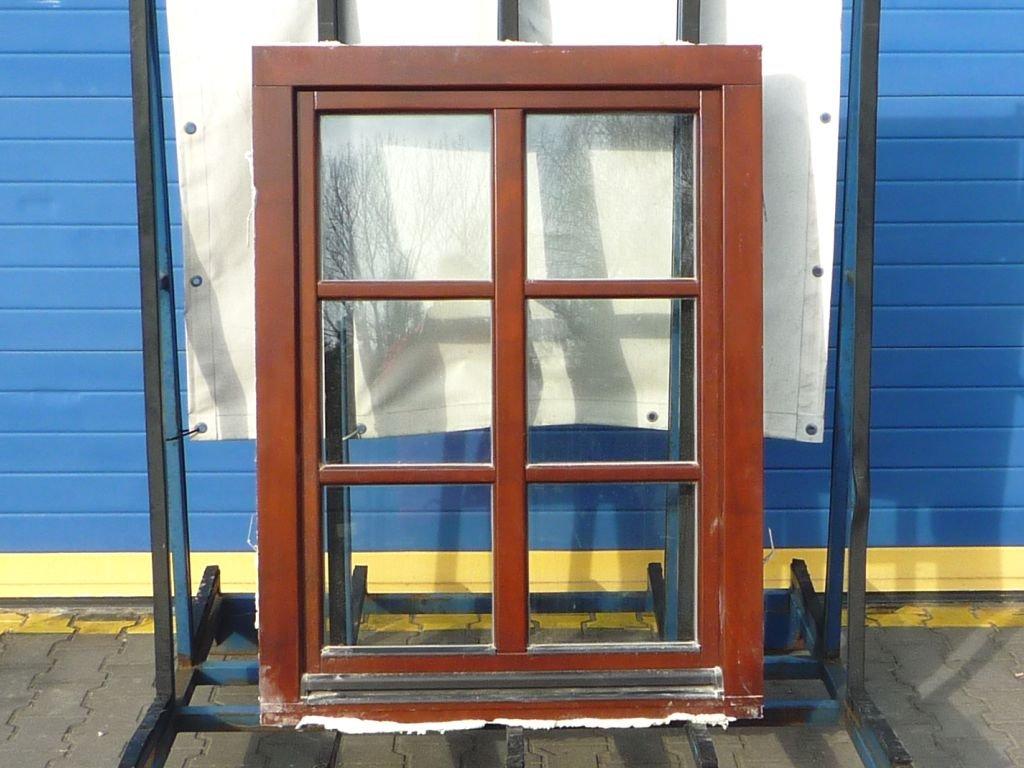 Dřevěné okno - 600x1110 mm, OS levé, ořech  + příslušenství zdarma + montážní materiál zdarma