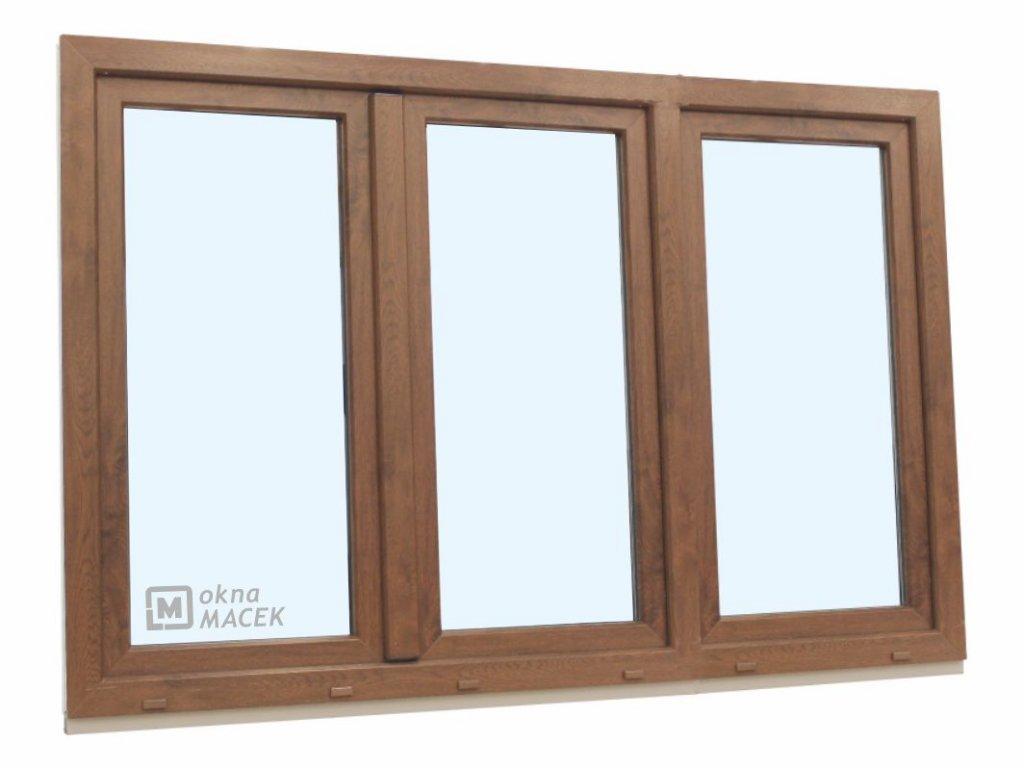 3k okno ořech