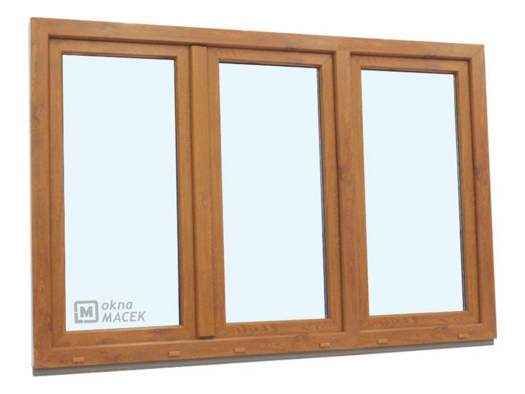 3k okno zlatý dub
