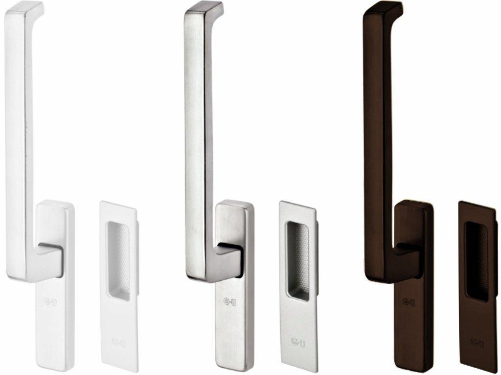 Jednostranné balkonové kliky - GU, pro posuvné balkonové dveře typu HS portál