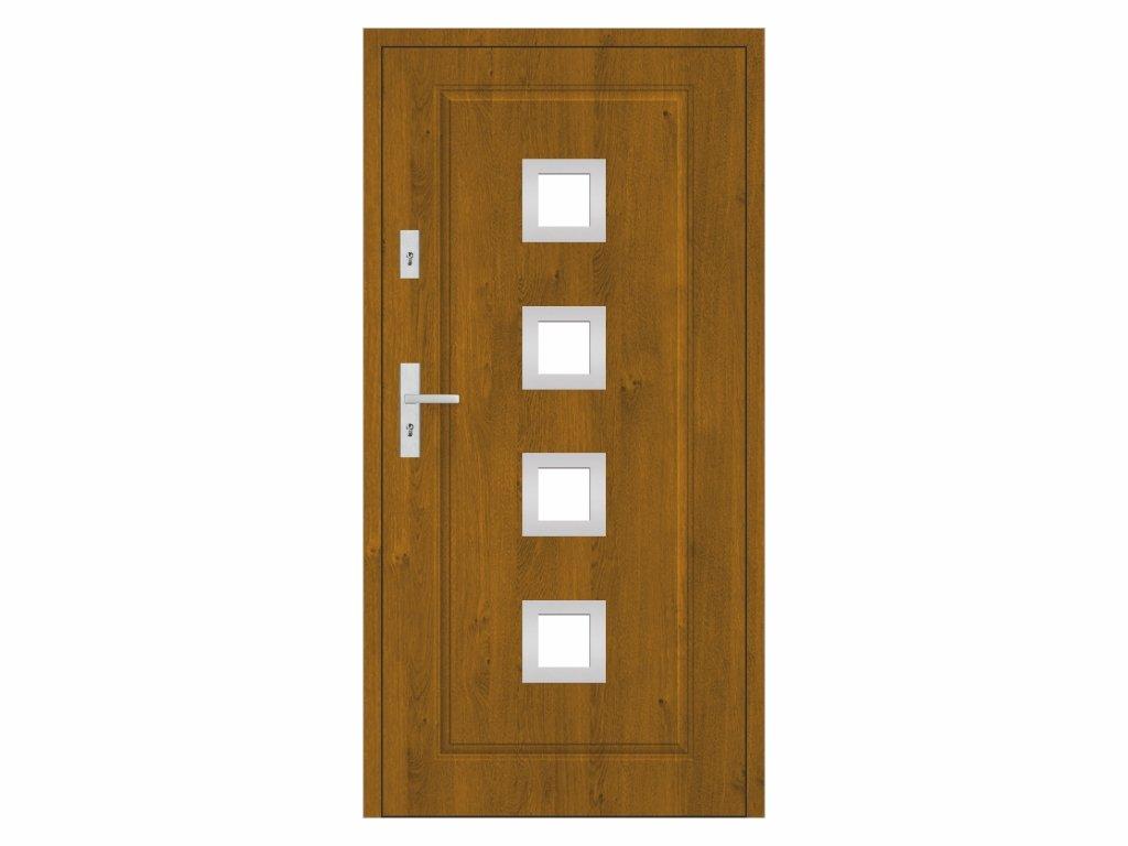 vchodové dveře STALPRODUKT T21 s30 zlatý dub