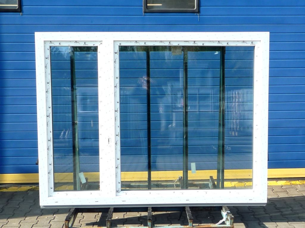 Plastové okno - KNIPPING 76 MD, 2220x1450 mm, O/OS, antracit/bílá  + příslušenství zdarma + montážní materiál zdarma