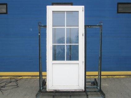 Plastové balkonové dveře - VEKA 70 AD, 900x2100 mm, O pravé, bílá  + příslušenství zdarma + montážní materiál zdarma