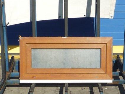 Plastové okno - KNIPPING 70 AD, 1390x1370 mm,  OS/OS, eiche dunkel/bílá  + příslušenství zdarma + montážní materiál zdarma