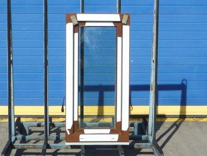 Plastové okno - KNIPPING 70 AD, 1880x1330 mm,  OS+O/OS, ořech/bílá  + příslušenství zdarma + montážní materiál zdarma