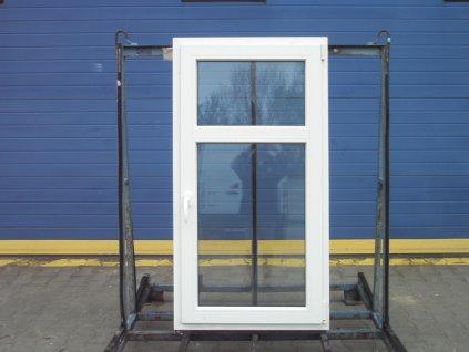 Plastové okno - KNIPPING 70 AD, 1940x1240 mm,  OS+O/OS, ořech/bílá  + příslušenství zdarma + montážní materiál zdarma
