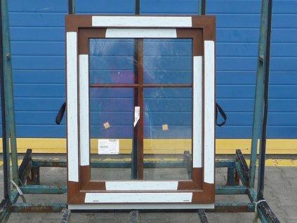 Plastové okno - KNIPPING 70 AD, 880x1450 mm,  FIX (pevné), winchester/winchester  + příslušenství zdarma + montážní materiál zdarma