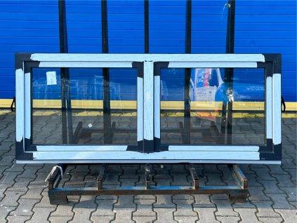 Plastové okno - KBE 70 AD, 1570x1185 mm, OS+O/OS, ořech/bílá  + příslušenství zdarma + montážní materiál zdarma