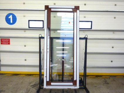 Plastové vchodové dveře - WDS 70 AD, prosklené, bílá/bílá, POŠKOZENÉ  + příslušenství zdarma + montážní materiál zdarma