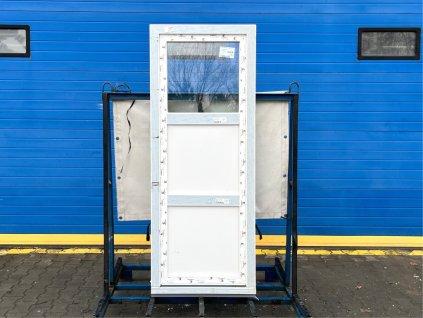 Plastové balkonové dveře - KNIPPING 70 AD, 820x2360 mm, OS levé, bílá  + příslušenství zdarma + montážní materiál zdarma