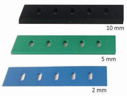 Montážní podložky - 2/5/10 mm, plastové, pro montáž posuvných balkonových dveří typu HS portál