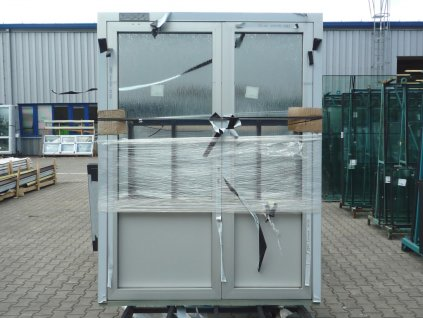 Plastové vchodové dveře - KNIPPING 76 AD, 1400x2365 mm, ořech/ořech  + příslušenství zdarma + montážní materiál zdarma