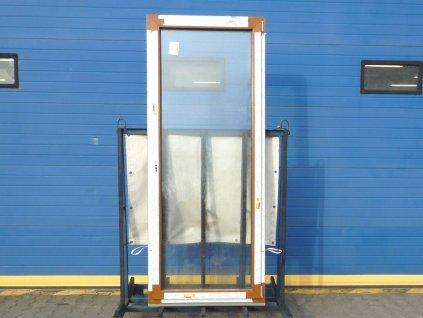 Plastové balkonové dveře - KNIPPING 76 MD, 1570x2240 mm, O+O ven klapačka, zlatý dub/zlatý dub  + příslušenství zdarma + montážní materiál zdarma